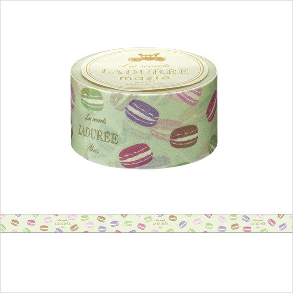 Laduree Japan Masking Tape Sticker 25mm Macaron Green New Decoration
