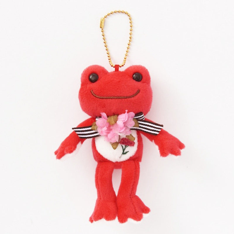Pickles the Frog Plush Keychain Merci Mom Carnation Japan