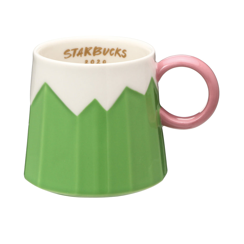 Starbucks Japan New Year 2020 Mug Cup Fuji Mountain Fujisan Green Pink Limit
