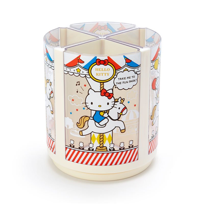 Hello Kitty Roating Pen Stand Merry-go-round Sanrio Japan