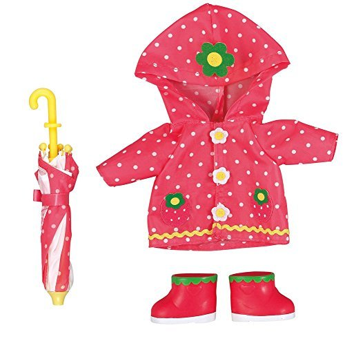Costume for Mell chan Doll Strawberry Raincoat Set Pilot Japan