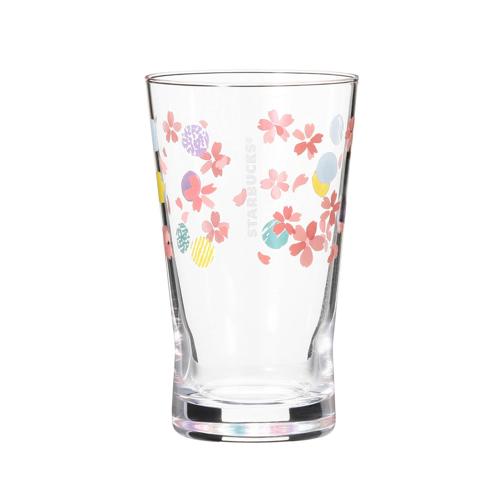 SAKURA 2018 Glass Cup Dot 355ml Starbucks Japan