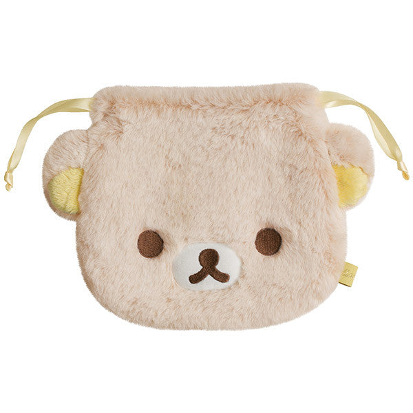 Rilakkuma Sherbet Drawstring Bag Pouch Light Color San-X Japan