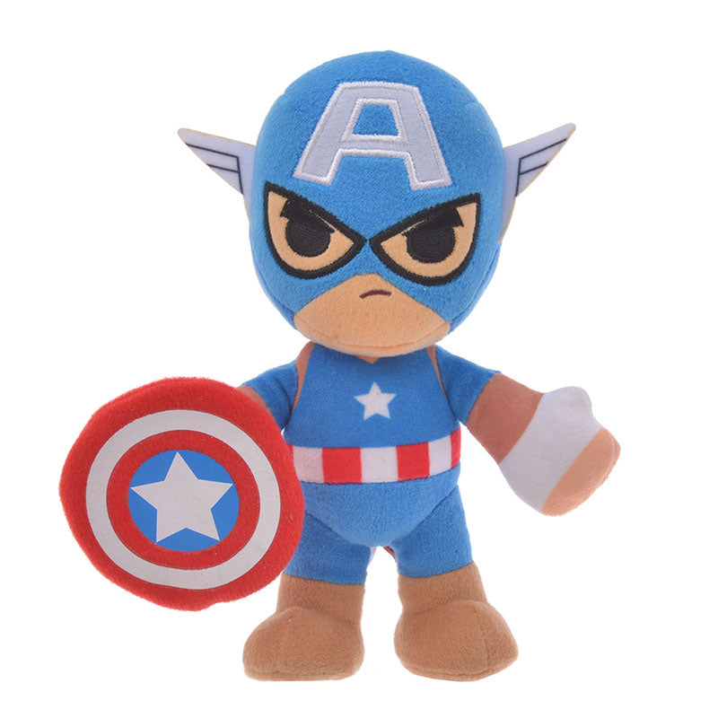 Marvel Captain America Plush Doll Deformed Disney Store Japan