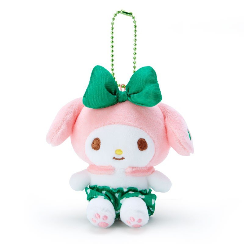 My Melody Plush Mascot Holder Keychain Green Recommend Color Sanrio Japan