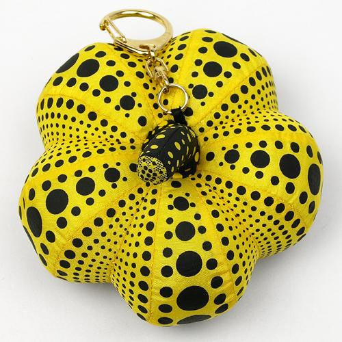 Yayoi Kusama Pumpkin Mascot Plush Key Chain Yellow Japan Artist