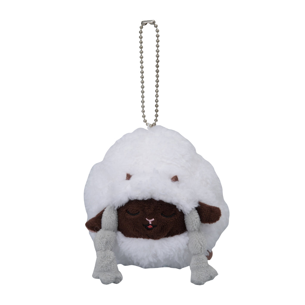 Wooloo Wooluu Plush Keychain Snorlax Yawn Pokemon Center Japan Original