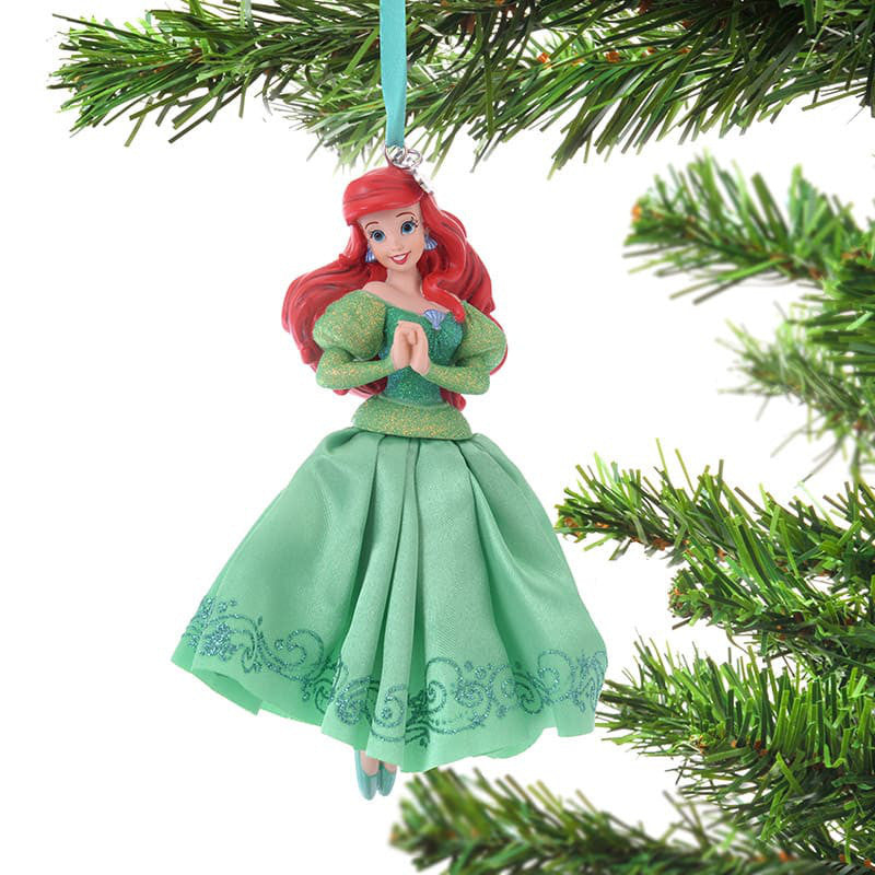 Little Mermaid Ariel Christmas Tree Ornament Dress Disney Store Japan