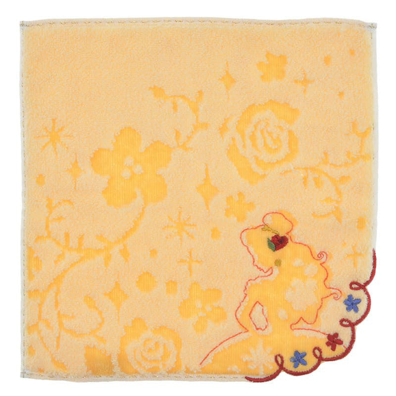 Belle mini Towel Flower Silhouette Disney Store Japan Beauty and the Beast