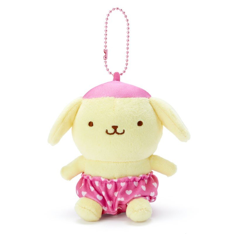 Pom Pom Purin Plush Mascot Holder Keychain Pink Recommend Color Sanrio Japan