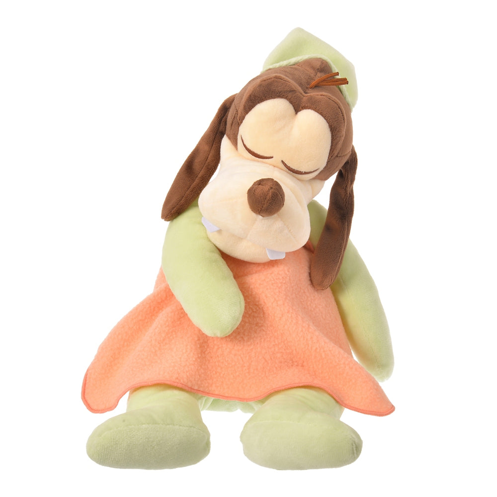 Goofy Plush Doll Gussuri Sleeping Disney Store Japan
