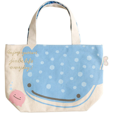 Jinbei San Whale Shark Canvas mini Tote Bag Deep Sea Friends San-X Japan