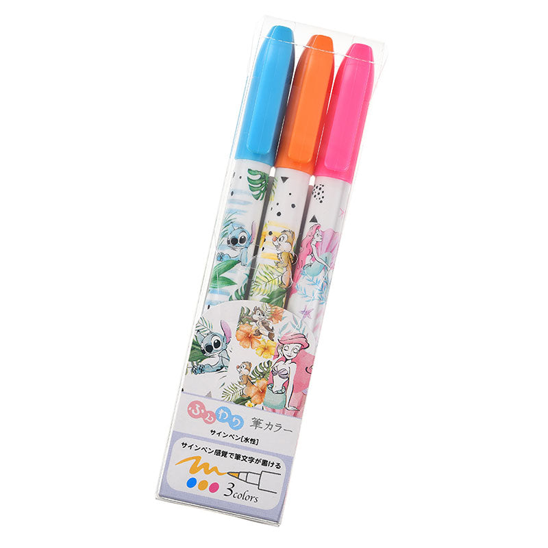 Chip & Dale Color Pen 3pcs Set Summer Art Disney Store Japan