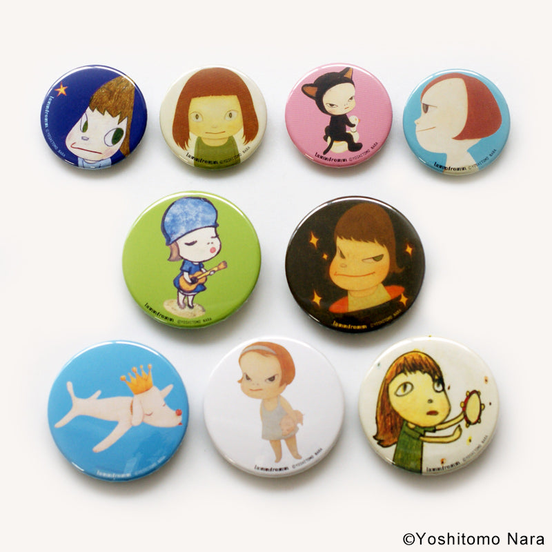 Pinback Button Badge 9pcs Set Yoshitomo Nara Japan Artist