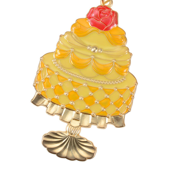 Belle Keychain Key Holder Girly Cake Disney Store Japan Beauty and the Beast