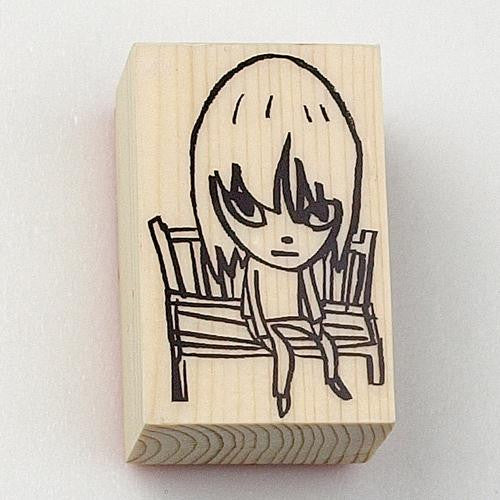 Nara STAMP wood / M size Bench Yoshitomo Nara Japan Art