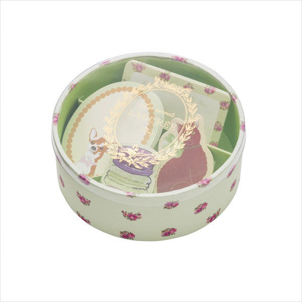 Dog Cat Macaroon Sticky Memo Note Box Set Leonore Green Laduree Japan