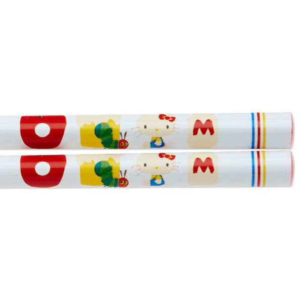Hello Kitty x The Very Hungry Caterpillar Chopsticks Adult logo Sanrio Japan