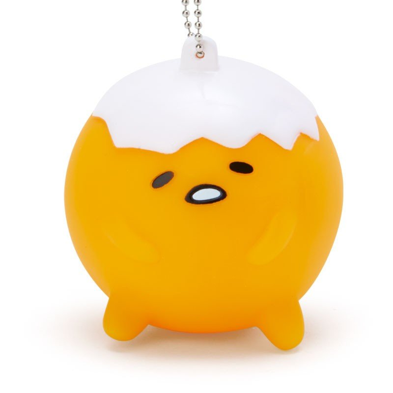 Gudetama Egg Mascot Holder Keychain Mugyu Crying Sanrio Japan