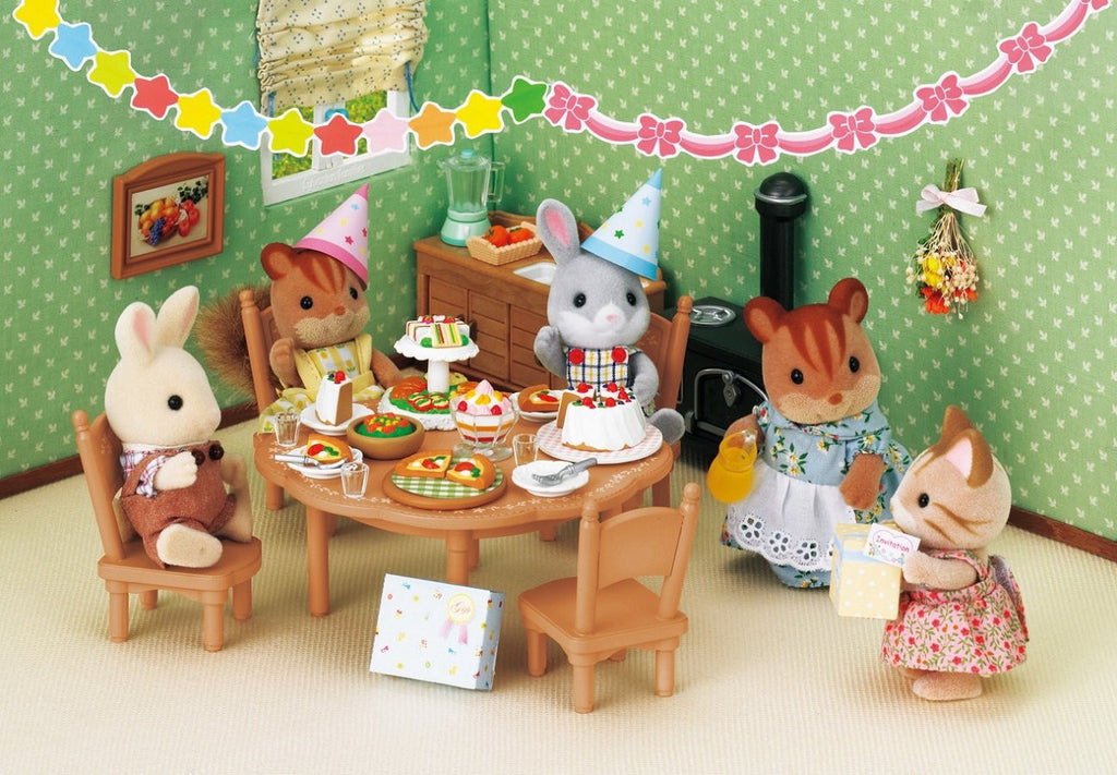 Furniture Home Party Set Ka-612 Sylvanian Families Japan Calico Critters