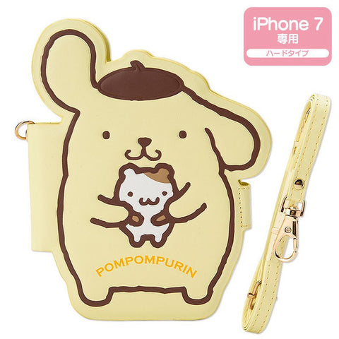 Pom Pom Purin iPhone 7 Case Cover Shoulder Strap Sanrio Japan