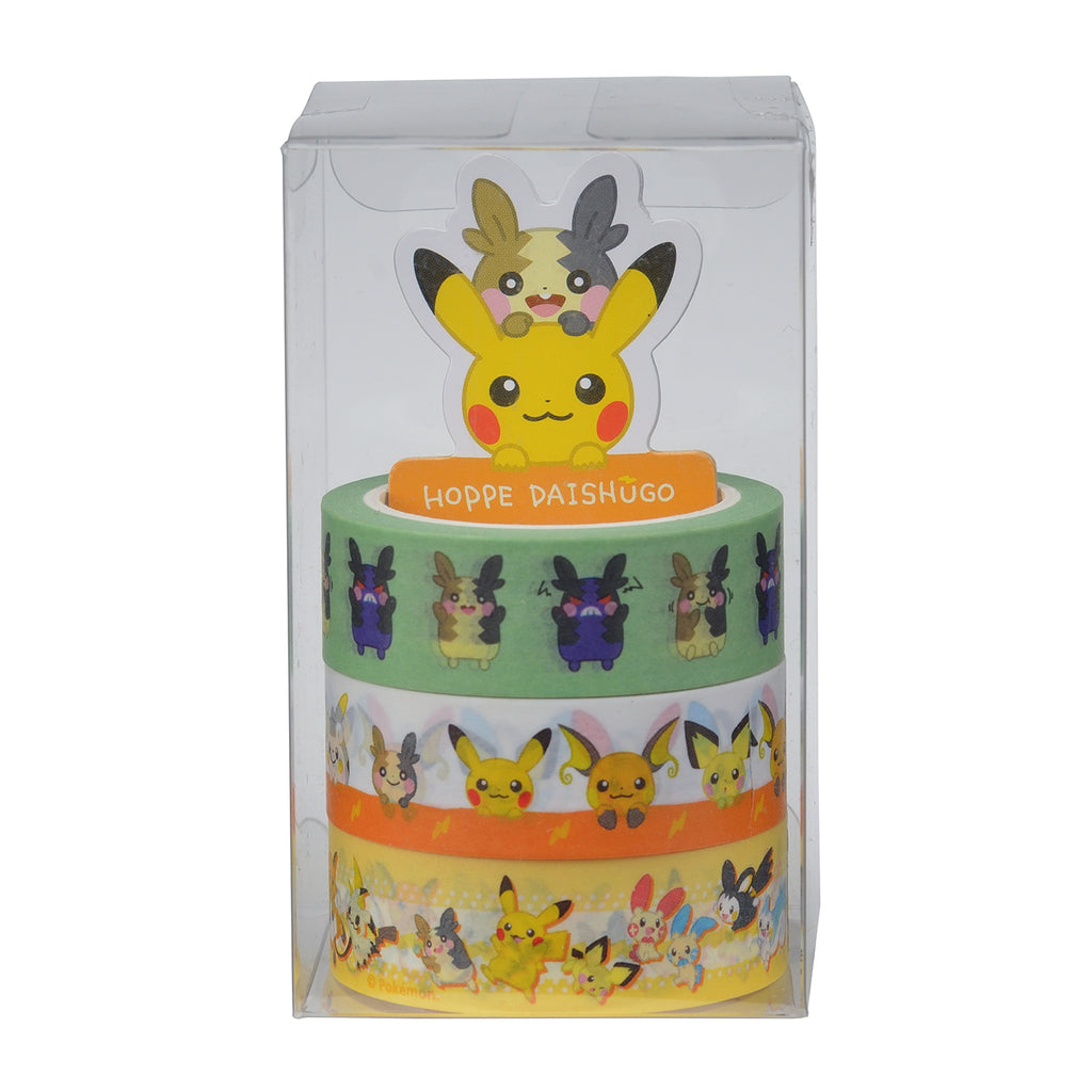Pikachu Masking Tape 3pcs Set HOPPE DAISHUGO Pokemon Center Japan Original