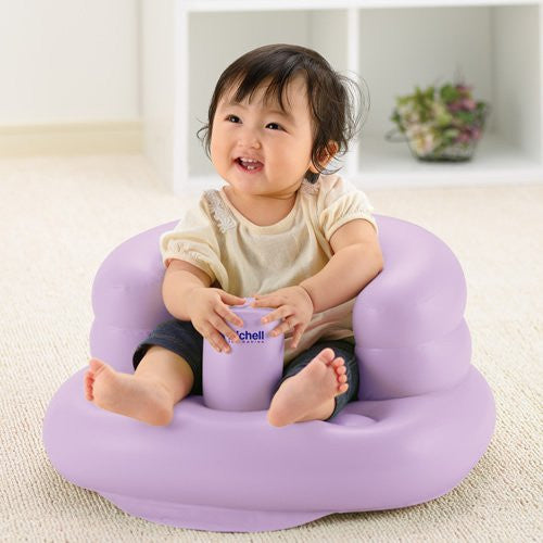Air Fluffy Soft Baby Bath Chair R Purple Richell Japan