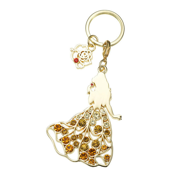 Belle Keychain Key Holder ABISTE Disney Store Japan Beauty and the Beast