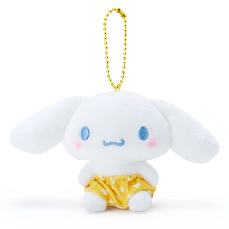 Cinnamoroll Plush Mascot Holder Keychain Yellow Recommend Color Sanrio Japan