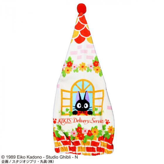 Kiki's Delivery Service Jiji Cap Towel Studio Ghibli Japan Cat