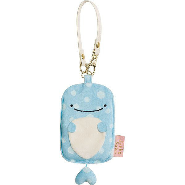 Jinbei San Whale Shark Plush ID Card Pass Case San-X Japan