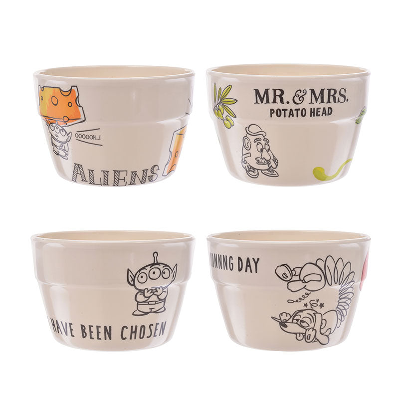Toy Story Melamine Bowl 4pcs Set Cook & Eat Disney Store Japan