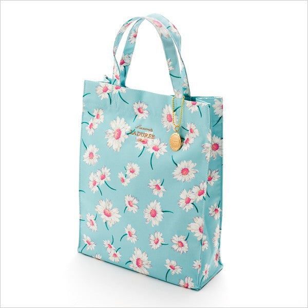 Tote Bag L Flower Marguerite Blue Laduree Japan