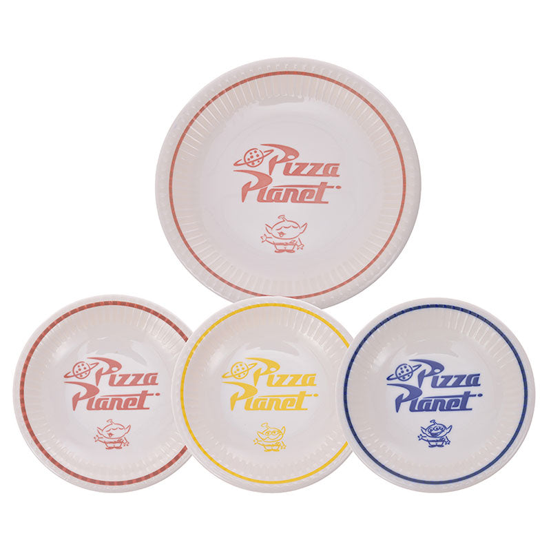 Toy Story Alien & Pizza Planet Porcelain Plate Set Disney Store Japan With Box