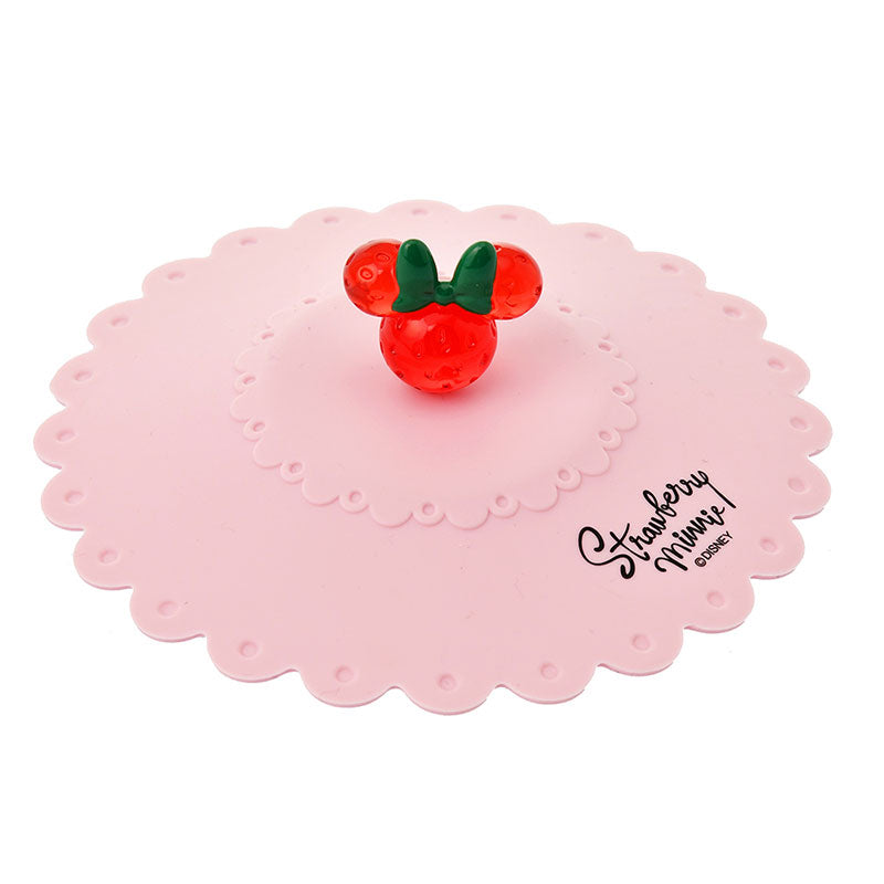 Minnie Silicone Lid for Mug Cup Strawberry Ichigo Lifestyle Disney Store Japan