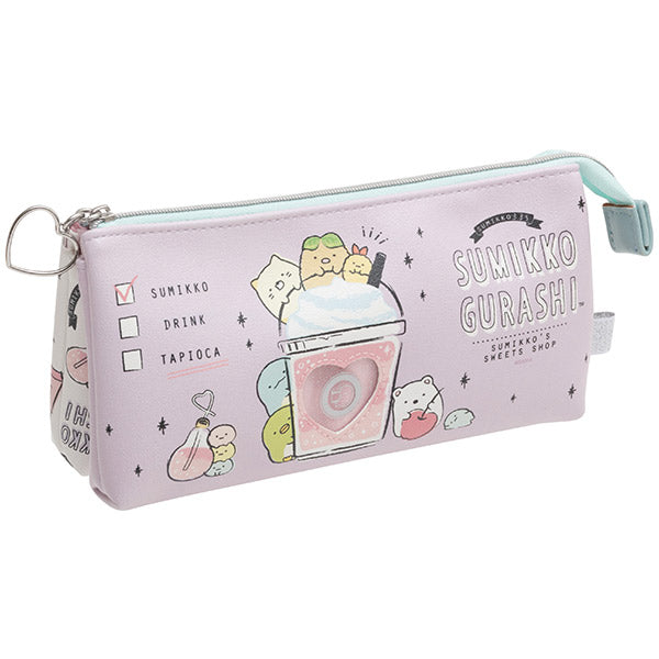 Sumikko Gurashi 3Pockets Pen Case Pencil Pouch Heart Window San-X Japan