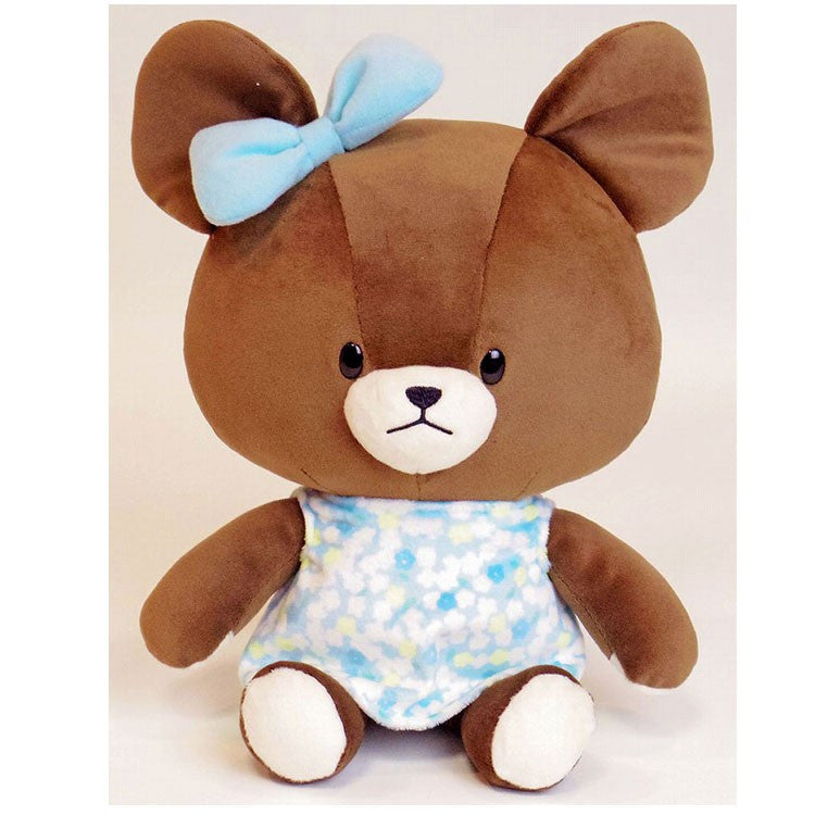 Jackie Soft Plush Doll M Blue Flower the bears' school Japan