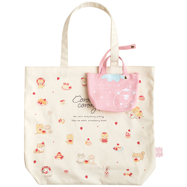 Corocoro Coronya mini Tote Bag with Pouch Strawberry San-X Japan 2021