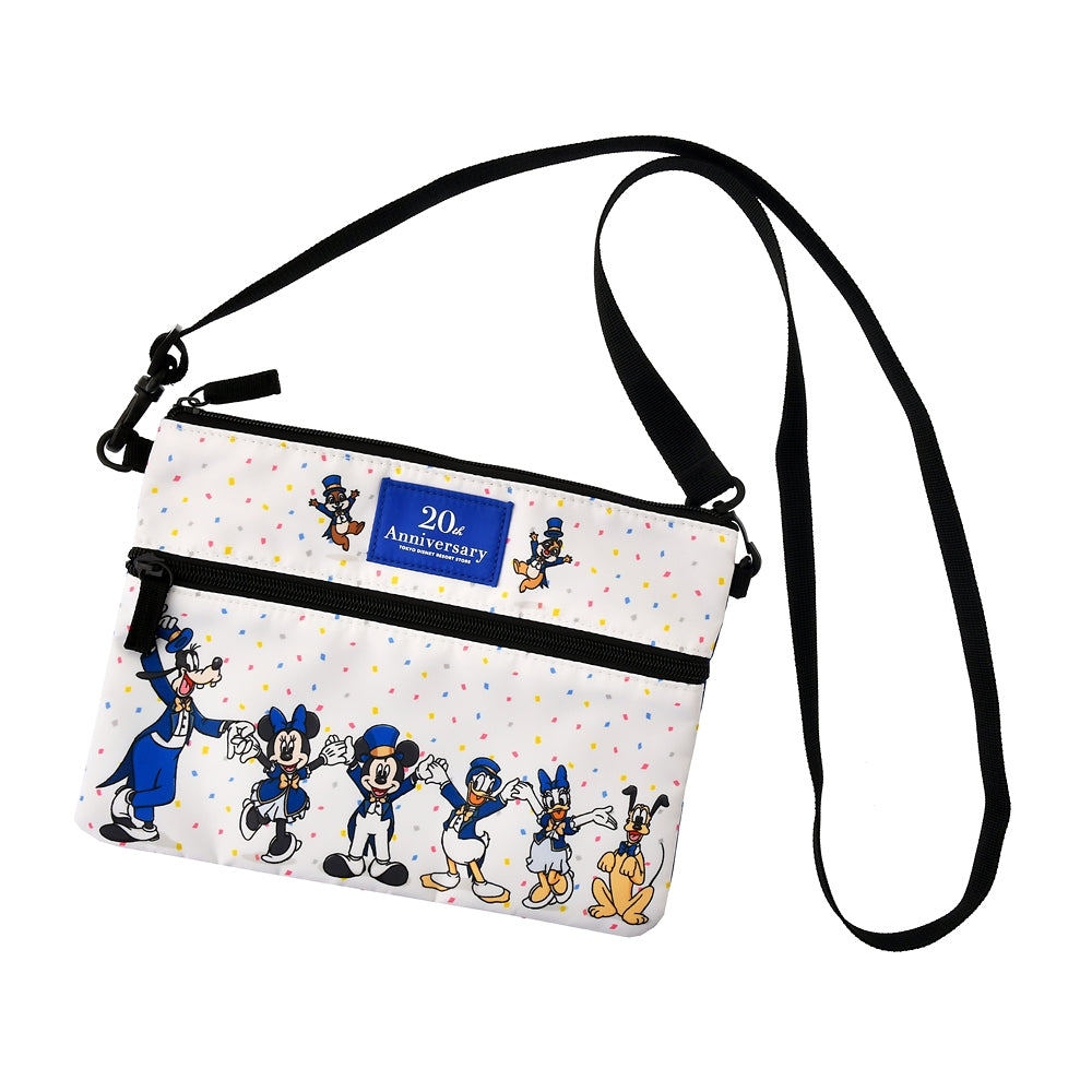 Mickey & Friends Shoulder Bag TOKYO DISNEY RESORT STORE 20th Anniversary Japan