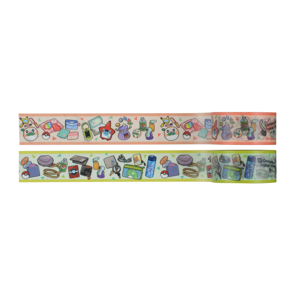 Masking Tape Contents of Trainer's bag OR TQ Pokemon Center Japan Original
