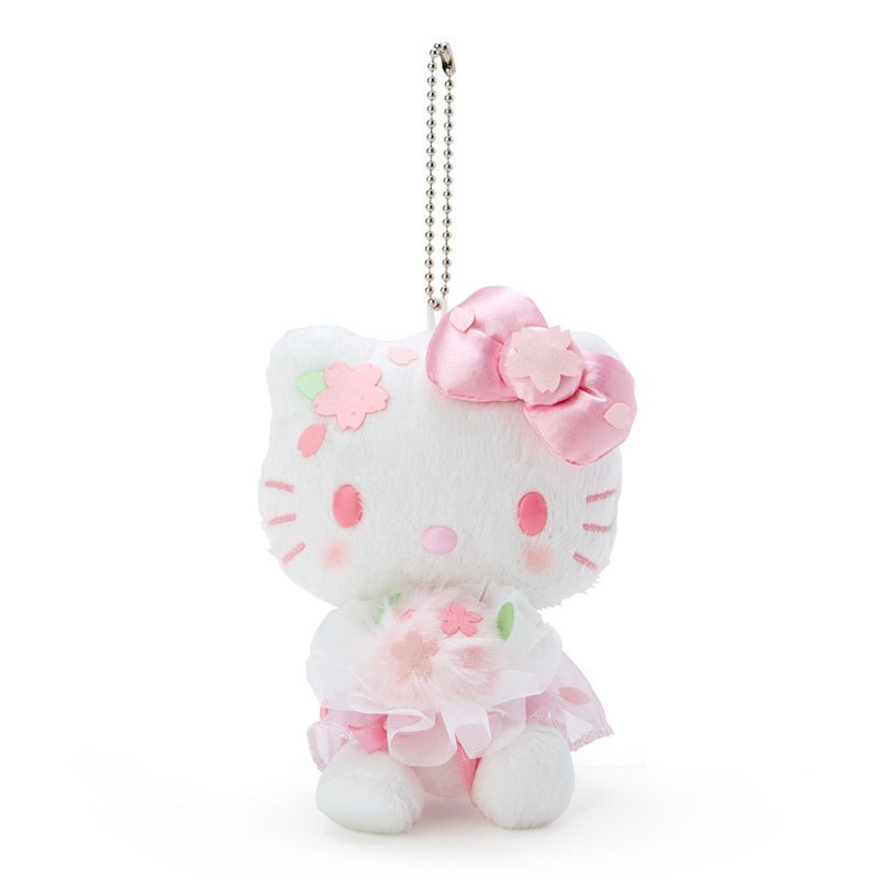 Hello Kitty Plush Mascot Holder Keychain Sakura Sanrio Japan 2021
