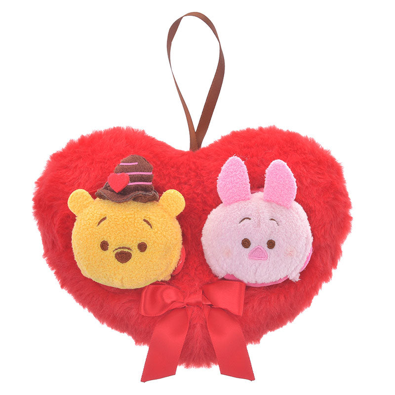 Winnie the Pooh & Piglet Tsum Tsum Plush Doll Valentine 2020 Disney Store Japan