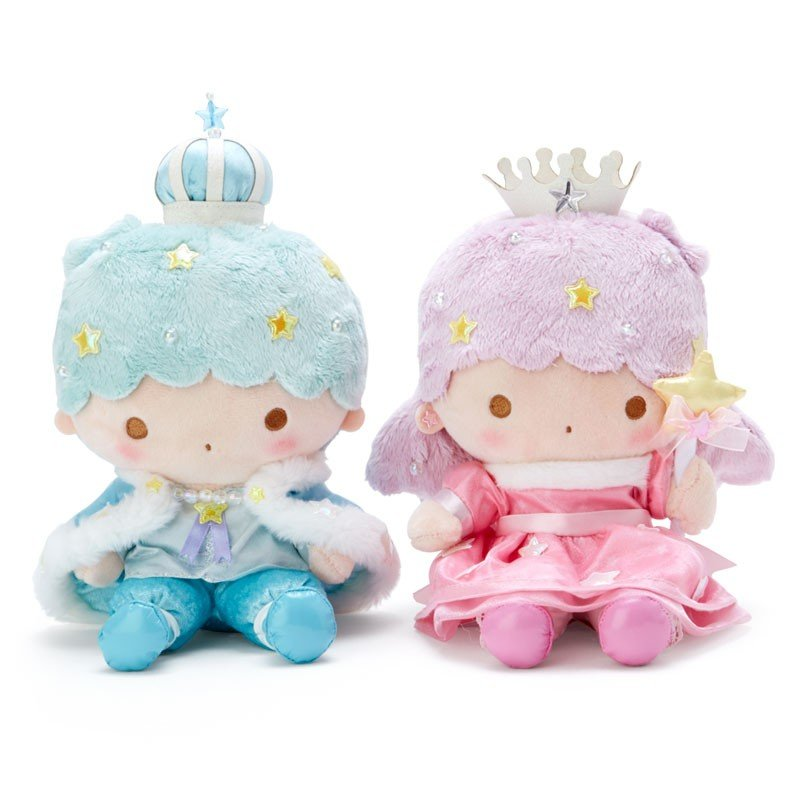 Little Twin Stars Kiki Lala Plush Doll with Box Aurora Crown Sanrio Japan