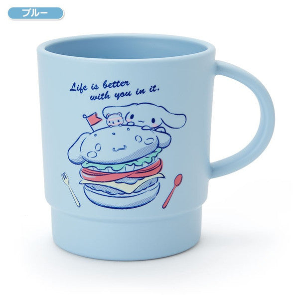Cinnamoroll Stacking Plastic Cup Blue Happy Days Sanrio Japan