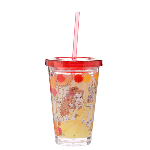 Belle Straw Tumbler Princess Party Disney Store Japan Beauty and the Beast