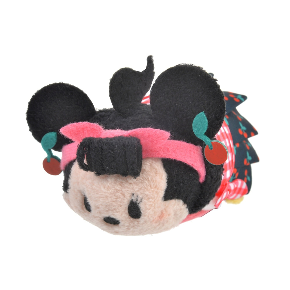 Minnie Tsum Tsum Plush Doll mini S Cherry Disney Store Japan