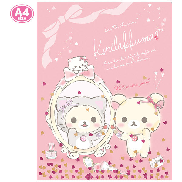 File Holder A4 2 Pockets Korilakkuma in the Mirror San-X Japan Rilakkuma