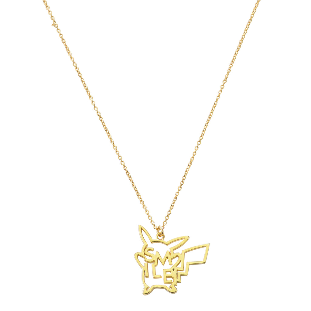 Pikachu 5108 Necklace SMILE Sun & Moon Pokemon Center Japan