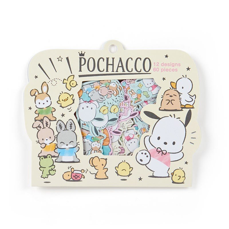 Pochacco Flake Sticker Birthday Sanrio Japan
