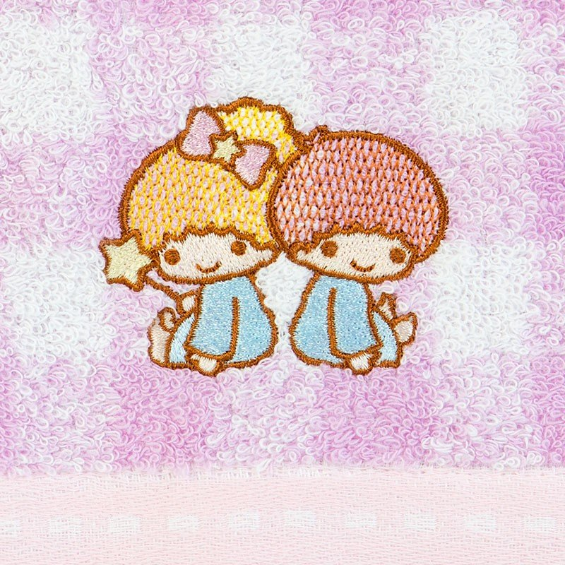 Little Twin Stars Kiki Lala Face Towel Plaid Imabari Towel Sanrio Japan 2019